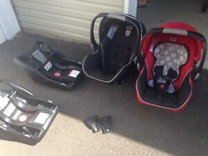 2 britax car seats with stroller/bases and adapters