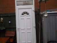 front door and frame and lock and key