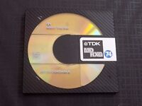 10 X T.D.K. MD-RGX SILVER LABEL BLANK RECORDABLE MINI DISCS 74 MINUTES