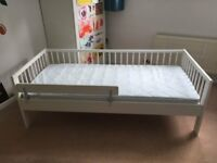 IKEA Gulliver Toddler Bed with Vikare bed guard - £40 - No Mattress