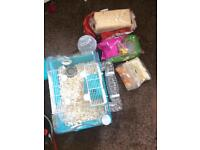Hamster cage brand new with all accessories food bedding wheel ball and more