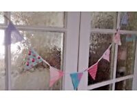 11ft Shabby Chic Vintage Tea party Mini Bunting.