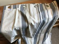 Striped Lined Curtains Made by John Lewis - Length 136cm Width 158cm - Excellent Condition