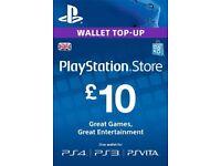 PlayStation PSN Card 10 GBP Wallet Top Up