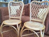 Wicker chairs x 4 . Good used condition .Pet free non smoking home