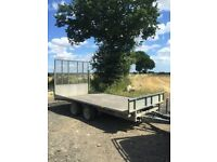 Ifor Williams Trailer Twin Axle rear ramp 14ft Beavertail