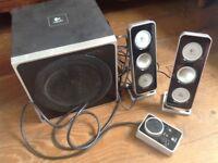 Logitech Z4 computer speaker system