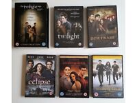 DVDs - All 5 'Twilight' Movie Series [Some unopened]