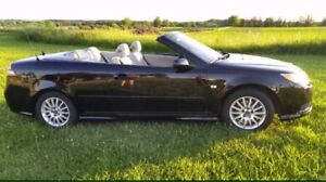 2008 Black Saab 9-3 Convertible