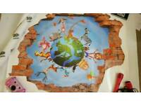 Kids 3D WALL STICKER NEW