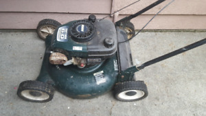 Gas Lawnmower with Bag