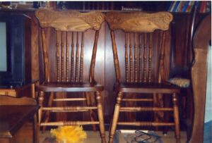 Antique chairs and recliners