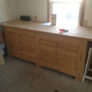 8'Long Super Heavy Duty 6x6 Post & Beam Extra Large Work Bench