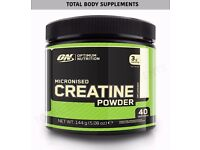 Optimum Nutrition ON Pure Micronized Creatine Powder -Unflavoured 144g