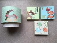 Next Child's Light Shade with matching Canvas Pictures