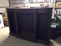 Large dark oak shelving unit for sale