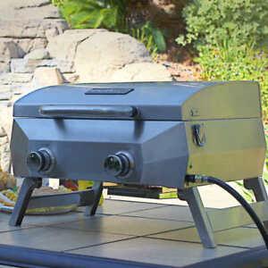 new 2 burner nexgrill portable stainless steel bbq/grill