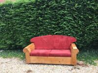 Handmade two seater sofa