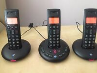 BT 3710 Trio Cordless Dect Phones with Answering Machine