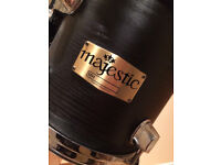 """Majestic concert toms 6"""" & 8"""", with Mapex stand"""