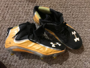Under Armour Black and Yellow Football Cleats