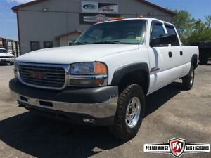 2001 GMC SIERRA 2500HD SLT 4X4 CREW LONG BOX DURAMAX