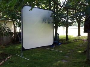 Outdoor Movie Nite?  8X8ft front/rear projection screen