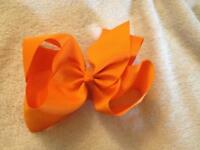 *New* 6 inch Orange Hair Bow