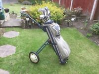 For sale - golf trolley with clubs