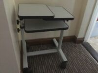 Laptop and data projector tables/trolley