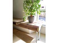 wooden desk handmade office licing room