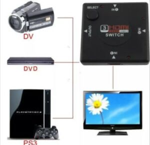 3 Port HDMI Switch-3 HDMI Inputs,1 Output, Auto Switching, 1080P