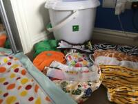 Tots bots nappy Bucket and bundle
