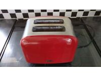 Red Toaster and Bread Bin