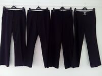 4 pairs of Girls Trousers aged 13 (Black, 158cm)