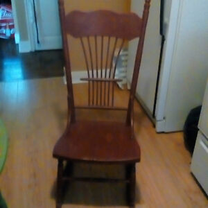 old style wooden rocking chair