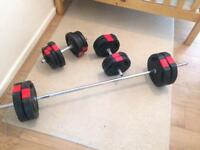 WEIGHTS - Barbell and Dumbells.