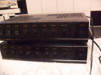 TOA PA Amplifier A1121 100V Line Amplifier x 2