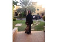 Beautifully made 2 designer abaya sfrom emirates.