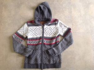 Roots Sweater- Fair Isle, Hooded, Size Medium