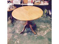 Quality circular light oak colour table