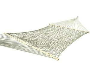 Vivere Double Cotton Natural Rope Hammock