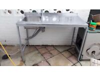**MOBILE CATERING SINK**WITH TAP AND ALL WATER CONNECTIONS**CAN BE DISMANTLED EASILY AND QUICK..