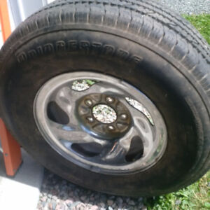 16 Ford Chrome Rim and Tire for truck