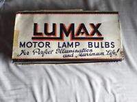 Vintage Lumax motor lamp bulbs £10
