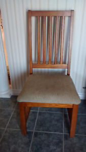 Solid Oak Occasional Chair