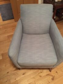 M and S armchair and footstool