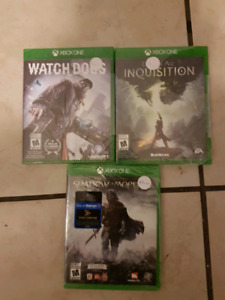 Xbox one games $5.00 each