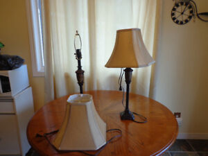 2 Nearly New Table lamps for sale
