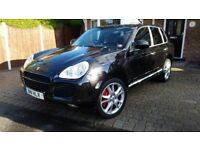 Porsche cayenne turbo 05 air susp 4 zone climate all seats heated leather + TV's